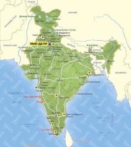 Индия мап